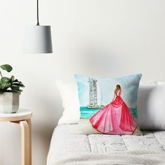"""167 Likes, 7 Comments - Sneha (@sneha.illustradentist) on Instagram: """"For the fashion traveller in you; Throw pillows, cushions, artprints and much more available with…"""""""