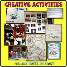 Creative activities for any book, story, or nonfiction text - student examples