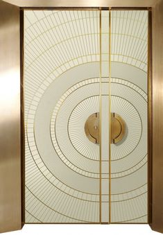 Art Deco Pre - and half - door, art - designed entrance doors - ART - Reshafim