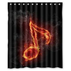 Fashion Design Waterproof Polyester Fabric Bathroom Shower Curtain Love Sport Theme 60(w)x72(h) with Shower Rings - Music Theme Fire Musical Notes Type1 Fashion Designed Shower Curtain http://www.amazon.com/dp/B0136IHRBC/ref=cm_sw_r_pi_dp_0656vb1PTW709
