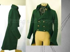 1795 Men's Coat Directions  (I must make this coat. I think I might just have enough black velvet...)