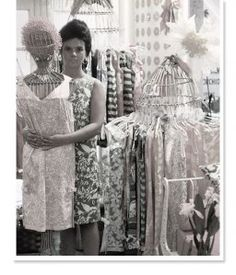 """Lilly Pulitzer. """"Jackie (Kennedy) wore one of my dresses – it was made from kitchen curtain material – and people went crazy. They took off like zingo. Everybody loved them, and I went into the dress business."""" – Essentially Lilly, A Guide to Colorful Entertaining"""
