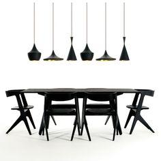 slab rectangle dining table ++ tom dixon