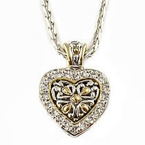 Reversible Filigree Pave CZ Heart Chain, John Medeiros, Jewelry $140