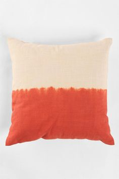 Spice Up Any Space In A Cinch With These Way-Cool Pillows #refinery29  http://www.refinery29.com/throw-pillows#slide2  Magical Thinking Dip-Dye Pillow $34, available at Urban Outfitters.