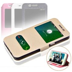 For Samsung Galaxy 2016 J1 J3 J5 SAMSUNG A3 A5 A7 2016 Case A3 A5 A7 J1 J2 2015 Smart Window View Phone Leather Cases Flip Cover