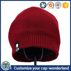 Top quality wholesale custom winter hat women red plain warm knitted cap.  Jeffyyu · alibaba 6368ee351519