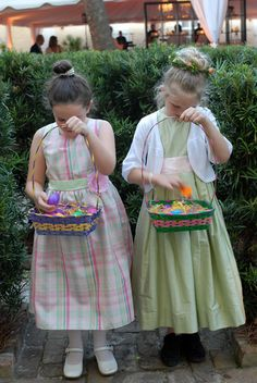 flower girls via calder clark designs blog
