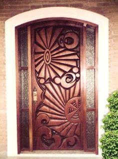 Interior Wood Doors – What You Must Look for While Buying Interior Wood Doors Door Gate Design, Main Door Design, Wooden Door Design, Front Door Design, Wooden Doors, House Front Door, House Doors, Cool Doors, Unique Doors