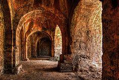 old preserved castle interior