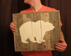 Bear Reclaimed Wood Wall Art (Made to Order)