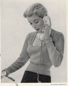 Vintage Chic - awesome blog with clothing patterns, knitting patterns and crochet patterns
