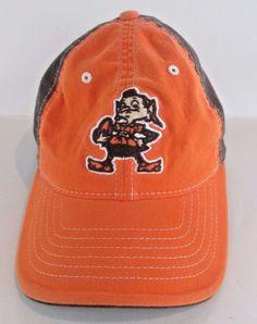760b3d5a403 CLEVELAND BROWNS NFL Reebok Football HAT Fitted OSFA Retired Brown Orange  CAP  Reebok  ClevelandBrowns
