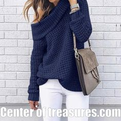 Price Description of Sweater Loose Fitting Turtleneck Casual solid Sweater Long Sleeve Autumn Winter Warm Sweater pull Femme hiver Pullovers If You search information for Sweaters, then Sweater Loo… Casual Sweaters, Long Sweaters, Pullover Sweaters, Sweaters For Women, Cute Winter Sweaters, Loose Knit Sweaters, Casual Tops, Winter Sweater Outfits, Oversized Sweater Outfit