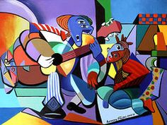Cubism Art - First Date  by Anthony Falbo