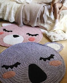 Crochet pug rug awesome so cute and crochet - Cosas hechas a ganchillo ...
