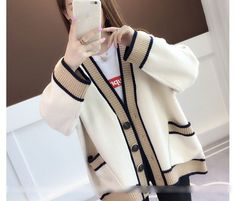 long women thicken sweaters autumn winter new knitted warm lady solid cardigan outwear coat tops – Tepe Time Cardigan Outfits, Sweater Cardigan, Cheap Cardigans, Elegant Dresses For Women, 1940s Fashion, Trendy Tops, Long Sweaters, Chiffon, Fashion Outfits
