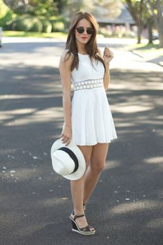 little white dress- Gal Meets Glam