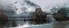 swamphouse..................BY:  Rostislav Zagornov......Click on image to enlarge....