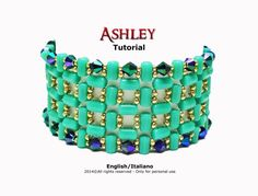 Tutorial Ashley Bracelet - beading pattern