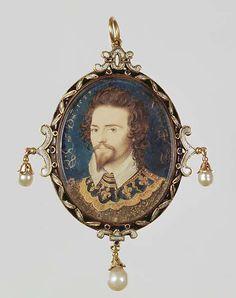 George Clifford, 3rd Earl of Cumberland, by Hilliard, Nicholas (1547-1619), English, ca. 16th century