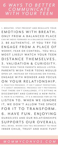 Having a tough time communicating with your teen? Here are 6 ways to better communicate with your teenager, especially during a pandemic. Parenting Teens, Parenting Advice, Fresher Tips, Difficult Children, Positive Parenting Solutions, Successful Relationships, Kids Growing Up, Happy Mom, Ways To Communicate