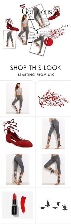 """""""You know a woman means business when she puts on red lipstick."""" by magi-418 ❤ liked on Polyvore featuring Brewster Home Fashions, Diane Von Furstenberg and Jayson Home"""