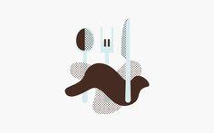 Illustration by Bond for Helsinki-based vegetarian café Well Coffee. #branding #design