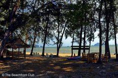 Traditional Thai bungalows on coast of Krabi. Private Beach Resort Krabi features nine bungalows located at the beachfront of the Nopparat Thara National Marine Park near Krabi in southern Thailand. #http://thebeachfrontclub.com/beach-hotel/asia/thailand/krabi/nopparatthara-beach/private-beach-resort/