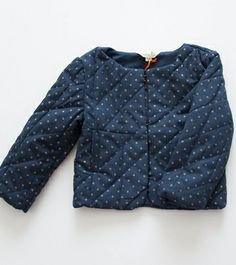 Dopo Navy Quilted Jacket - Littl by Lilit