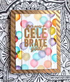 Just Love this card by Kristina Werner using the Simon Says Stamp April 2015 card kit.