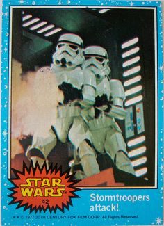 Stormtroopers bubble-gum card 1977