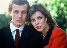 The late Stefano Casiraghi & Princess Caroline of Monaco