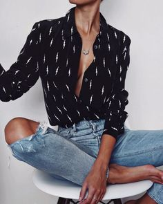 Location: Home   EQUIPMENT | equipment x kate moss slim signature shirt (via ORDER OF STYLE) CITIZENS OF HUMANITY | lyia jeans (via REVOLVE) PAMELA LOVE | small tribal spike necklace  ERA JEWELLERY |