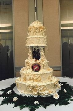 Marine Corp Wedding Cake