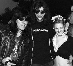 Ramones Fan Site, Marky Ramone, Joey Ramone, and Drew Barrymore