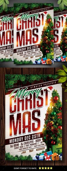 Christmas Flyer - Events Flyers Features : Size + bleed area Organized layer and grouped CMYK / 300 DPI All Element Included Christmas Night, Christmas Toys, Christmas Design, Christmas Balls, Vintage Christmas, Xmas, Merry Christmas, Christmas Flyer Template, Christmas Templates