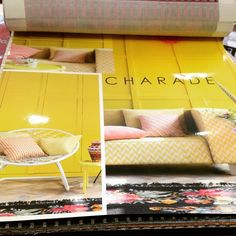 Loving the bright and zingy sofa this yellow room set really works. #bright #upholstery #chessdesigns #stripeinteriors