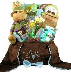 The Big Floppy Bunny -Easter Gift Basket of Premium Chocolates and Plush Rabbit http://www.easterdepot.com/the-big-floppy-bunny-easter-gift-basket-of-premium-chocolates-and-plush-rabbit/ #easter  It's big, it's beautiful, and it's loaded with gourmet treats that any child is sure to love. This is one the Easter Bunny may be tempted to keep for himself! This amazing and unique Easter basket is packed full of so many wonderful gifts and incredibly delicious goodies! This fantastic East..