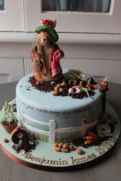 Beatrix Potter Benjamin Bunny Christening cake