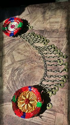 Medallion Circus - Chain-Joined Tribal Belly Dance Hair Clip