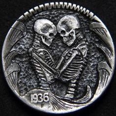 ROBERT MORRIS HOBO NICKEL - LOVE YOU TO DEATH - 1936 BUFFALO NICKEL