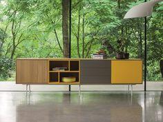 sideboard wood, color, portas e gavetas