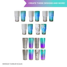 Mermaid scales SVG cutting file for Ozark 20 oz and 30 oz | Etsy. Mermaid scales SVG cutting file for 30 oz steel tumbler | Etsy. Connected, full-sheet mermaid scales SVG cutting files designed to wrap perfectly around popular tumbler brand.s Compatible with Silhouette and Cricut digital cutting machines.