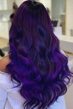 ARCTIC FOX HAIR COLOR I. Thank you from for giving me mermaid hair with these custom coloured extensions! You have made my hair goals come true🧜🏼♀️🧜🏼♀️! 💜💜💜 Catch me hair flipping for the rest of the year💁🏽♀️ Hair Color Purple, Hair Dye Colors, Cool Hair Color, Blue Hair, Deep Purple Hair, Bright Purple Hair, Brown Hair With Purple Highlights, Peacock Hair Color, Purple Ombre
