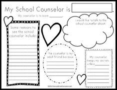 My School Counselor Activity from the Savvy School Counselor