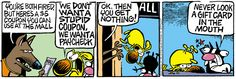 A daily comic strip by Mike Peters, Mother Goose And Grimm / 6. extra help for the holidays