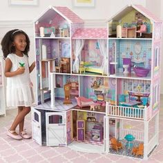 Country Estate Deluxe Wooden Dollhouse