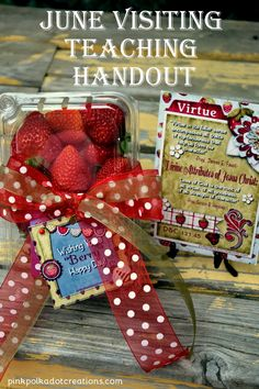 June 2015 Visiting Teaching Handout | Pink Polka Dot Creations