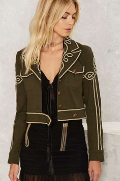 Nasty Gal Collection Got Your Six Soutache Military Jacket - Jackets + Coats